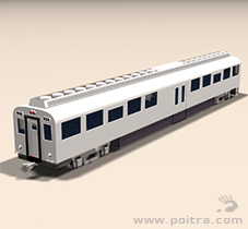 POITRA Visual custom 3D Model DMU commuter vehicle.
