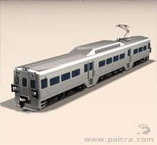 POITRA Visual custom 3D Model EMU commuter vehicle.