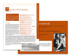 South I-25 EIS Graphic Design by POITRA Visual