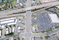 Aerial Photosimulations of the proposed I-5 and Hammer Lane.
