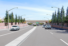 Ground view Photosimulations of the proposed I-5 and Otto Drive Interchange (View East)