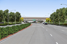 Ground view Photosimulations of the proposed I-5 and Otto Drive Interchange (View West)