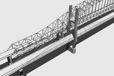 3D Model Simulation of the Cable-Stayed Bridge Type Alernative for the US20 over Mississippi River Bridge Project, Dubuque Iowa, Iowa DOT