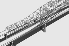 3D Model Simulation of the Continuous Arched Truss Bridge Alernative for the US20 over Mississippi River Bridge Project, Dubuque Iowa, Iowa DOT