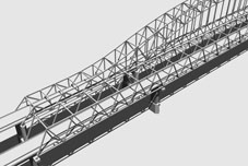 3D Model Simulation of the Parrallel Chord Truss Bridge Alernative for the US20 over Mississippi River Bridge Project, Dubuque Iowa, Iowa DOT