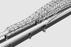 3D Model Simulation of the Tied Arch Bridge Type Alernative for the US20 over Mississippi River Bridge Project, Dubuque Iowa, Iowa DOT