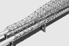 3D Model Simulation of Truss Arch Bridge Type Alernative for the US20 over Mississippi River Bridge Project, Dubuque Iowa, Iowa DOT