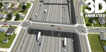 I-70 and Filmore Street Overpass 3d Simulation