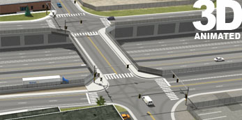 I-70 and Jackson Street Overpass  3d Simulation