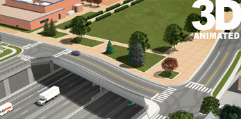 I-70 Swansea Partial Cover Lowered 3d Simulation