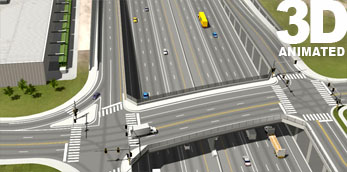 I-70 and York Street Overpass  3d Simulation
