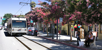 Photosimulations of proposed nieghborhood station at 9th Street (thumbnail image - click for enlargements)